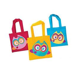 Owl You're a Hoot Mini Tote Bags Birthday Party Treats Favo