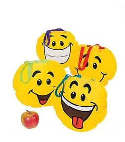 12 Smile Face Tote Bags Birthday Party Favors Gift Prize Cha
