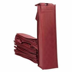 20-Pack Reusable Wine Tote Gift Carry Bags Single Bottle Car