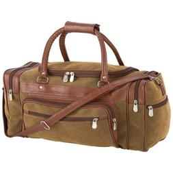 """23"""" Tote Bag Travel Gear Faux Leather Embassy Brown FREE SHI"""