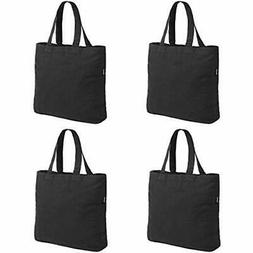 4 Packs Canvas Tote Bag By For Crafting Plain Black Kitchen