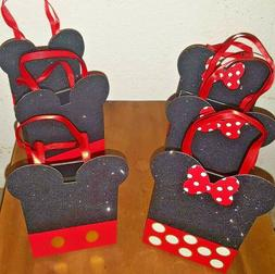 6 pc PAPYRUS DISNEY Minnie Mickey Mouse Ear Party Favor Tote