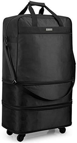Hanke Expandable Foldable Suitcase Luggage Rolling Travel Ba