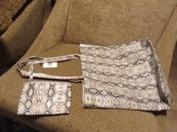 NORDSTROM Animal Print Faux Leather Tote Bag With Matching M