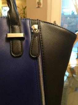 Kenneth Cole Reaction Black And Blue Large Tote Bag