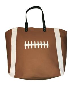 Brown Football Canvas Tote Sports Bag, Extra Large with Mino