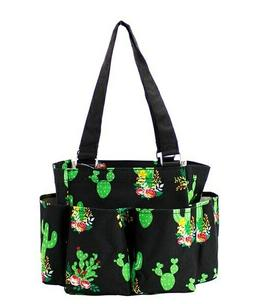 Cactus Aztec NGIL Small Zippered canvas purse Caddy Organize