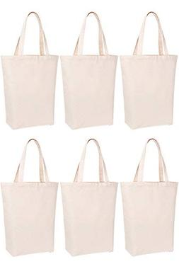 Lily Queen Natural Canvas Tote Bags DIY for Crafting and Dec