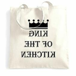 Chef's Cooking Tote Bag King Of The Kitchen Slogan Cook BBQ