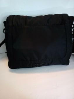 *Daddy/Mommy multi-use Messenger/ Diaper Bag Black Tote Mess