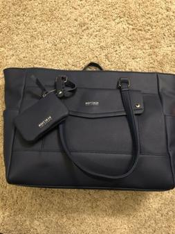 KENNETH COLE Reaction Dark Blue Tote Bag w Coin Purse NWOT S