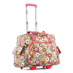 Olympia Deluxe Fashion Rolling Overnighter, Tulip, One Size