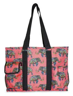 Elephant Womens Utility Large Canvas Tote Bag for Travel Sho
