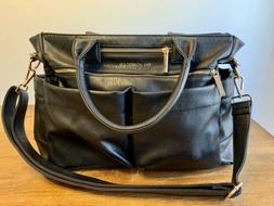 HONEST COMPANY Everything Tote Diaper Bag Vegan Leather Blac