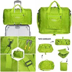 Foldable Duffel Bag For Travel Sports Gym Carry On Luggage L