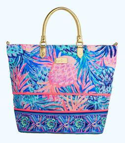 """Lilly Pulitzer """"Gypset Paradise"""" Weekender Travel Tote Bag L"""