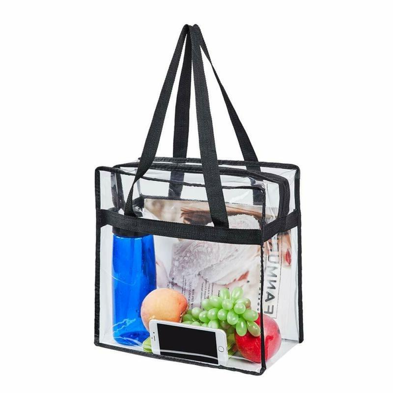 "Magicbags 12""X12""X6"" Stadium Approved Clear Tote Bag, Sturdy"