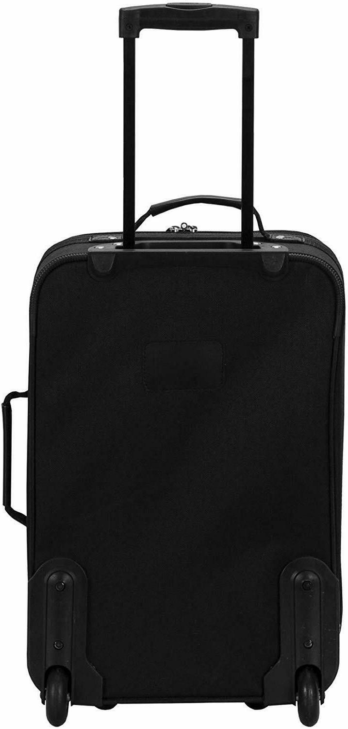 2 Traveler Rolling Luggage Tote Bag Expandable