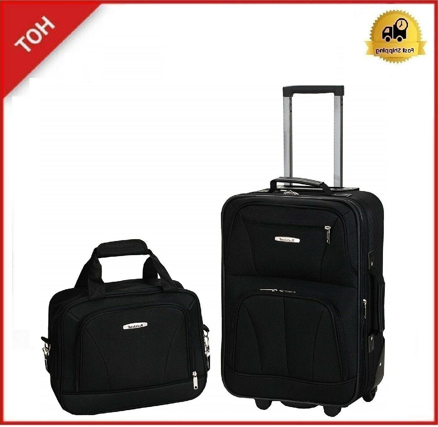 2 pcs traveler carry on rolling luggage