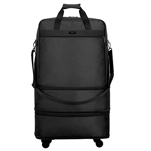 Luggage Rolling Duffel for Men Women Suitcase Large - 24,