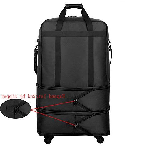 Hanke Expandable Suitcase Luggage Travel Bag Duffel Tote Men Women Lightweight Carry-on Suitcase Luggage with - 24,