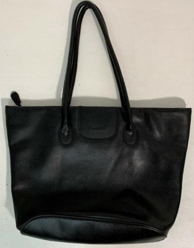america black leather large purse tote bag