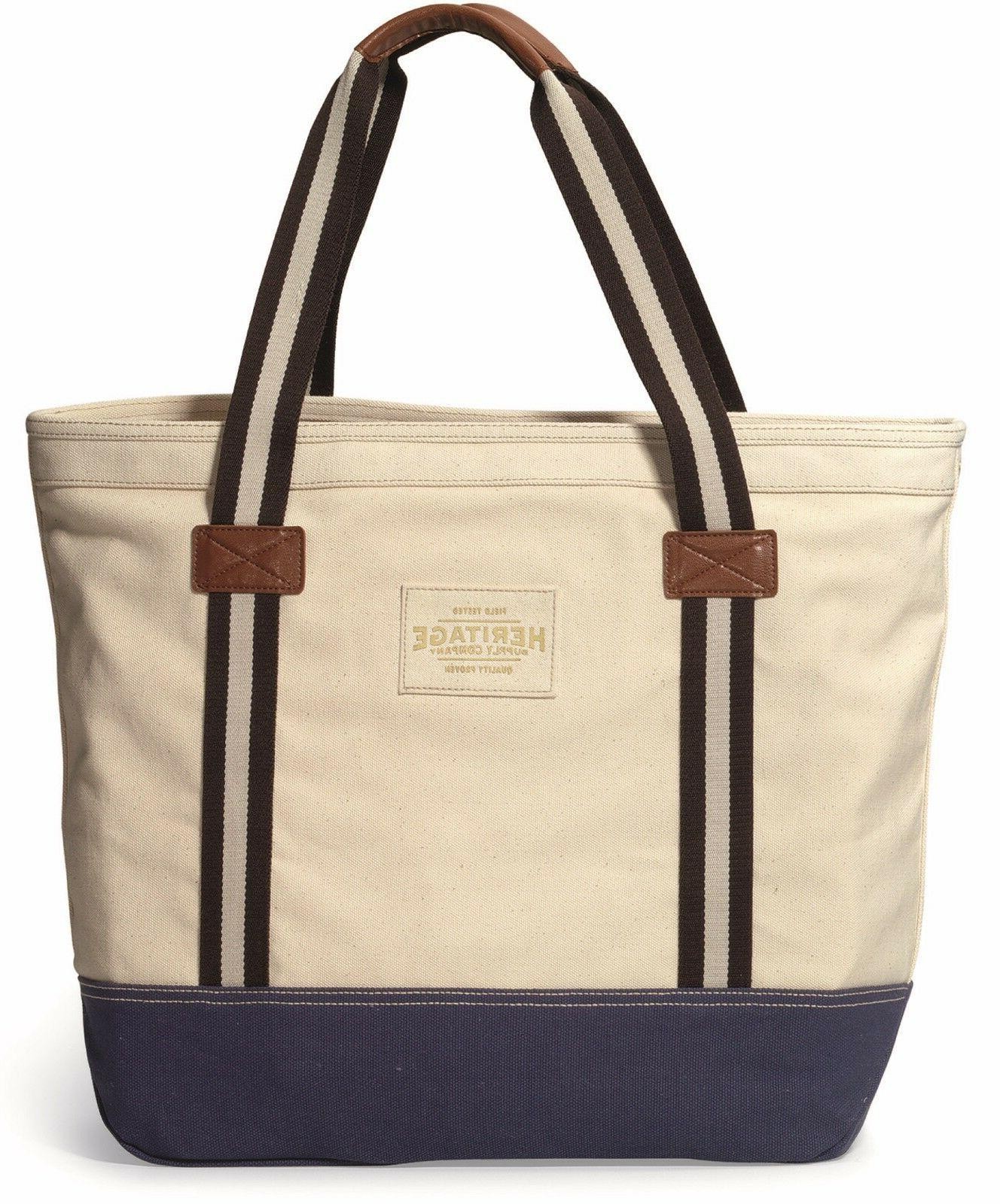 Heritage Nautically Inspired Durable Tote Bag - New