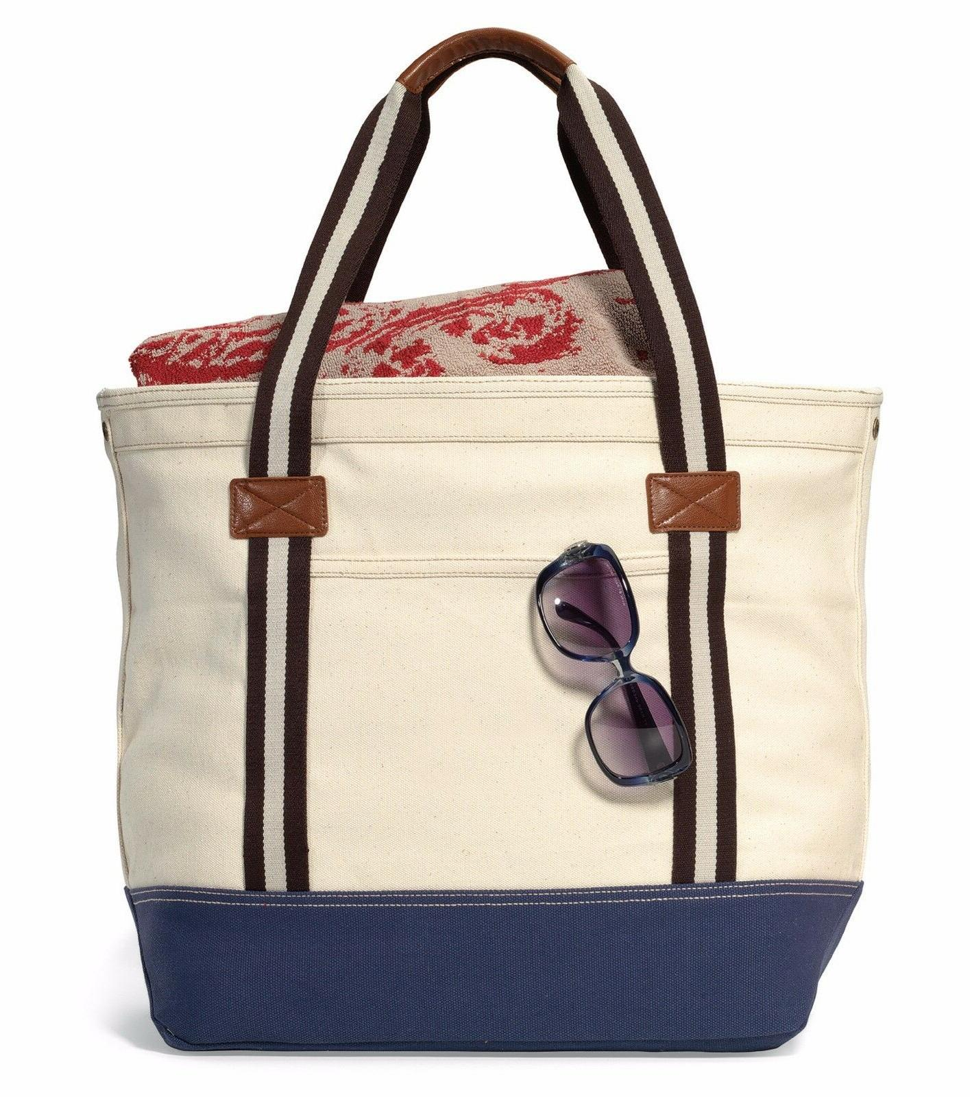 catalina nautically inspired cotton durable tote bag
