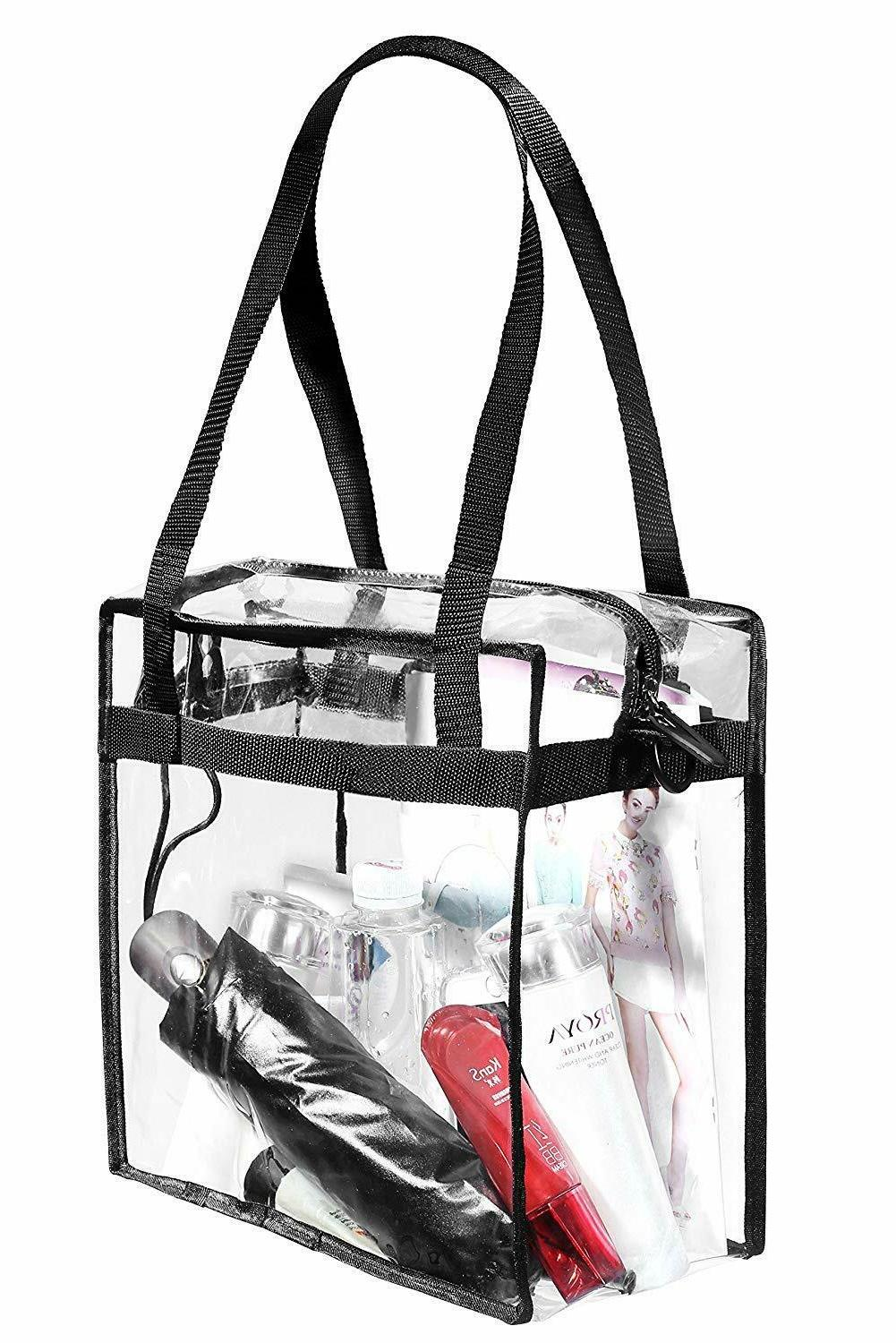 "BAGAIL Clear Tote with Zipper 12"" X"