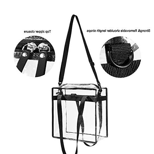 Clear PGA Stadium Approved - The Tote Bag with Perfect for Games.Cross-Body Messenger w X