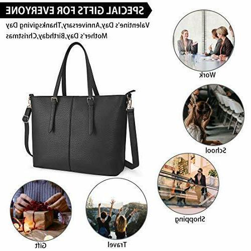 Laptop Bag 15.6 Inch Tote Waterproof Lightweight Leather