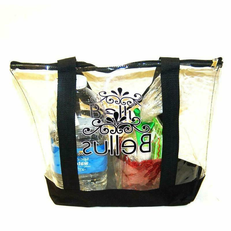 Large Clear Tote Bag With Zipper Closure For Beach Outside S