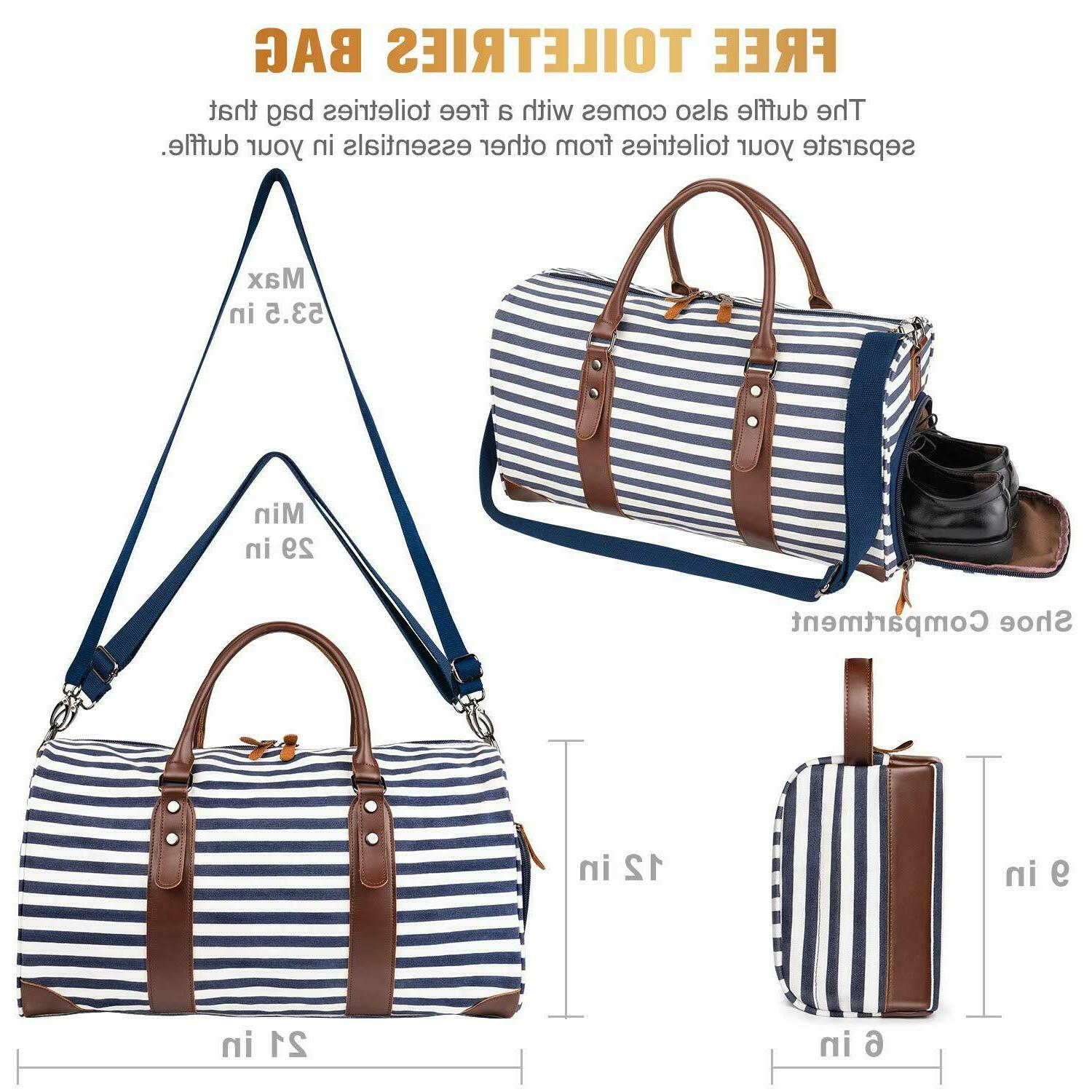 Leather Style Duffle Travel Blue