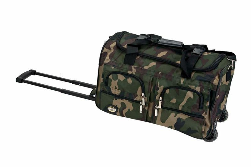 Rockland Luggage Rolling 22 Inch Duffle Bag, Camouflage, One