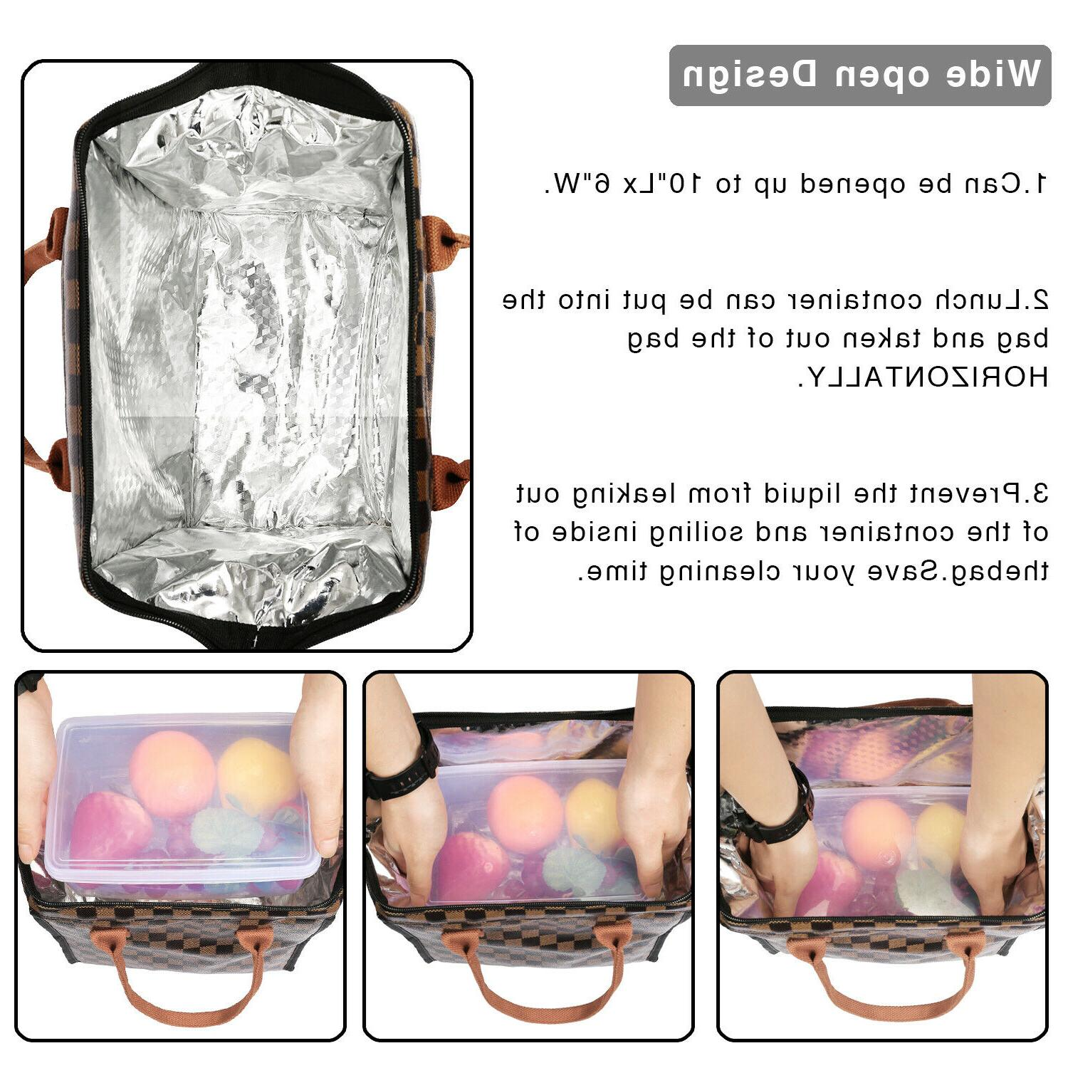 WODKEIS Cooler Bag Wide-Open Lunch Tote Box ThermalOrganizer