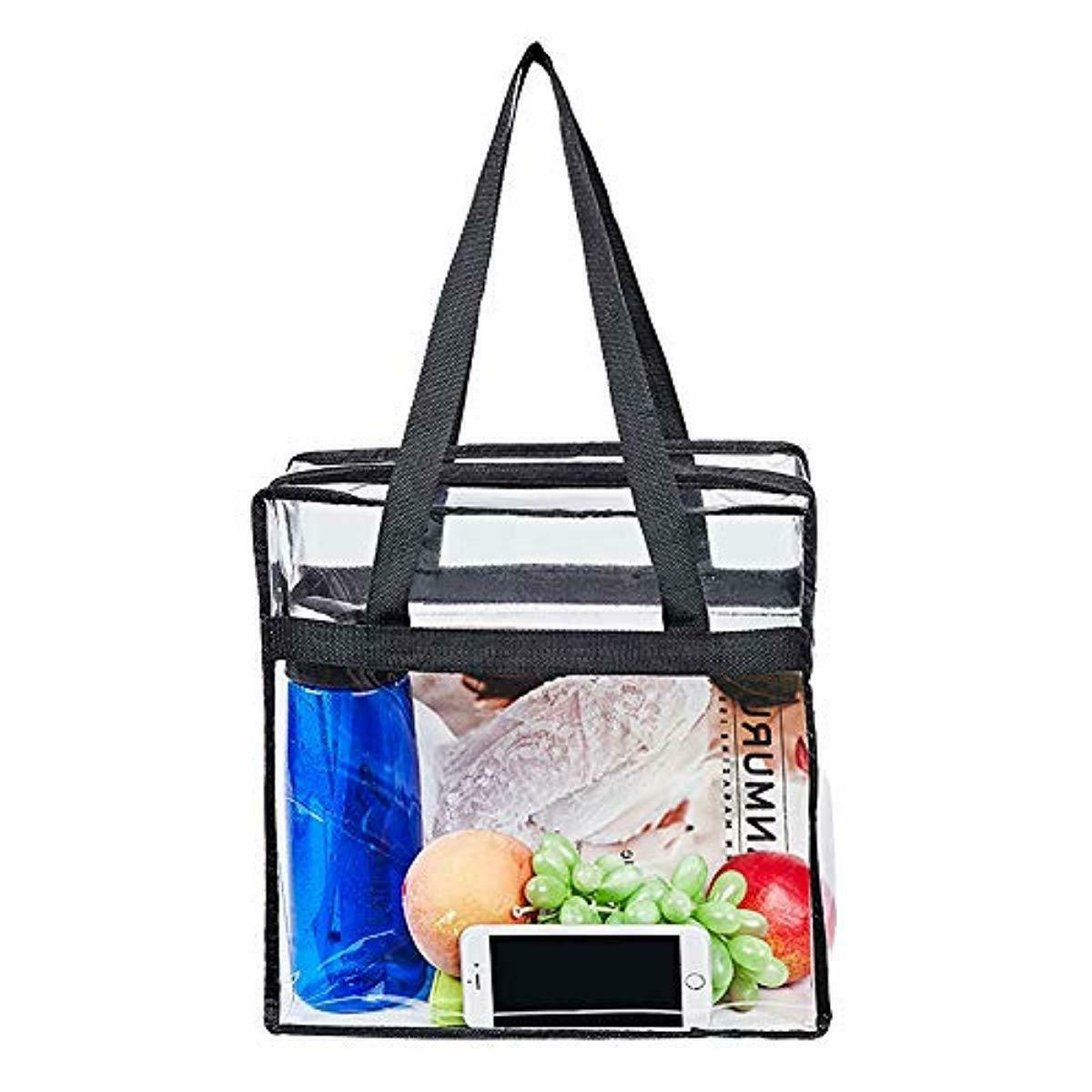 """Magicbags 12""""X12""""X6"""" Stadium Approved Clear Tote Bag, Sturdy"""