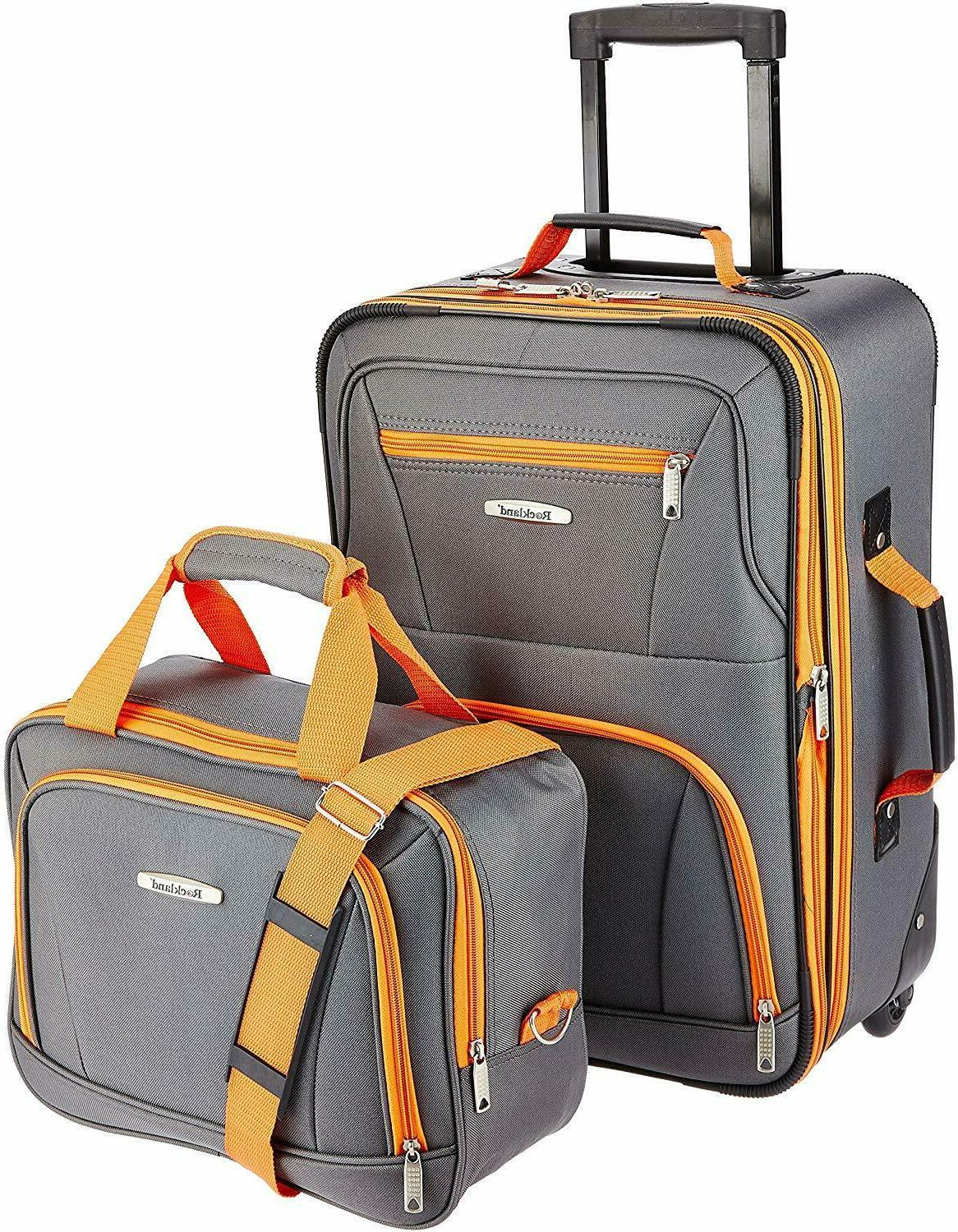 NEW Pcs Carry-on Rolling Tote Bag Set Expandable