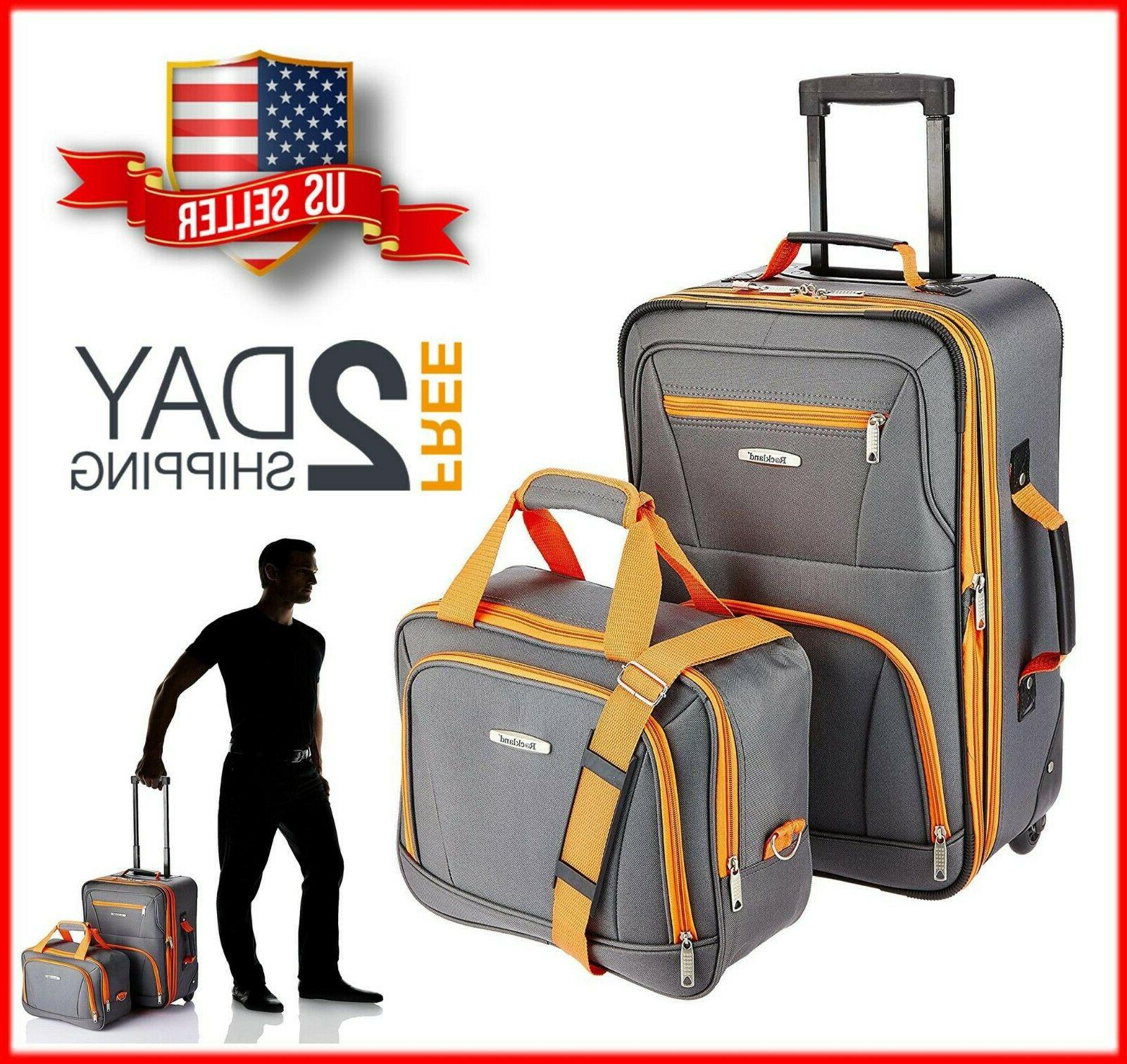 new 2 pcs traveler carry on rolling