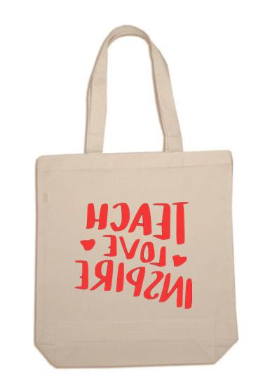 new teach love inspire canvas tote traveling