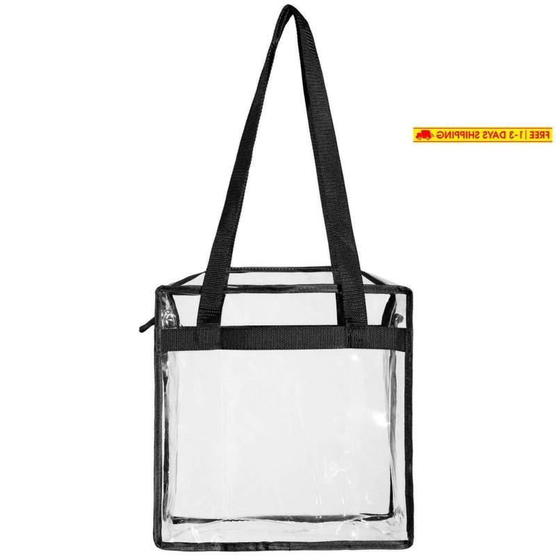 Bagail Stadium Approved Clear Tote Bag With Zipper Crossbody