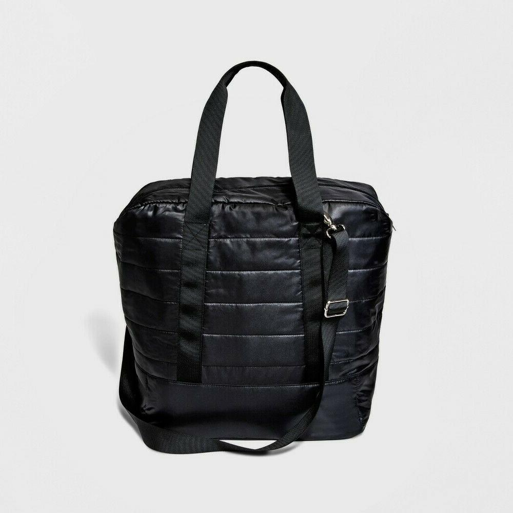 Quilted Nylon Black Tote Wild with