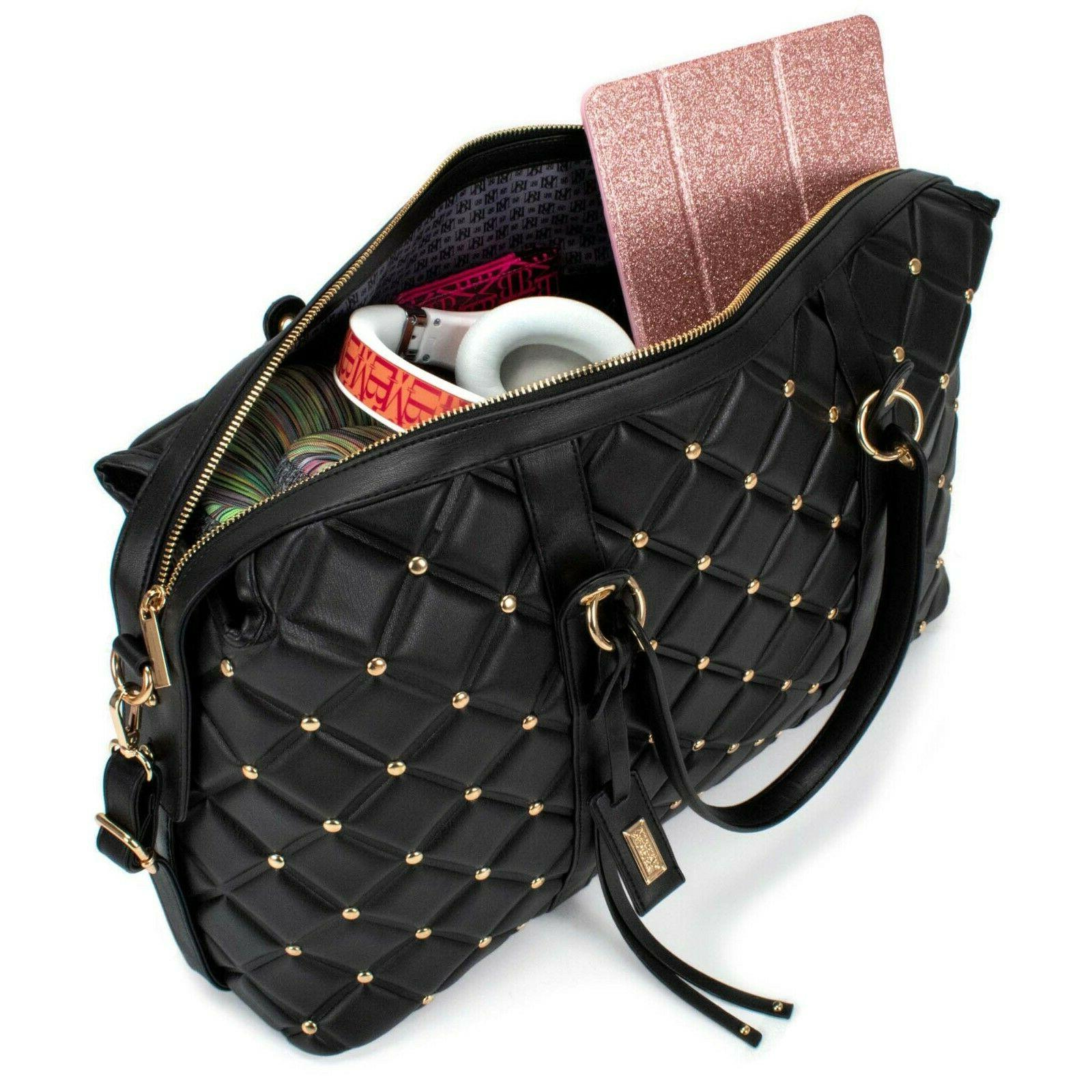 BADGLEY MISCHKA Quilted Travel Tote Bag Packable Travel