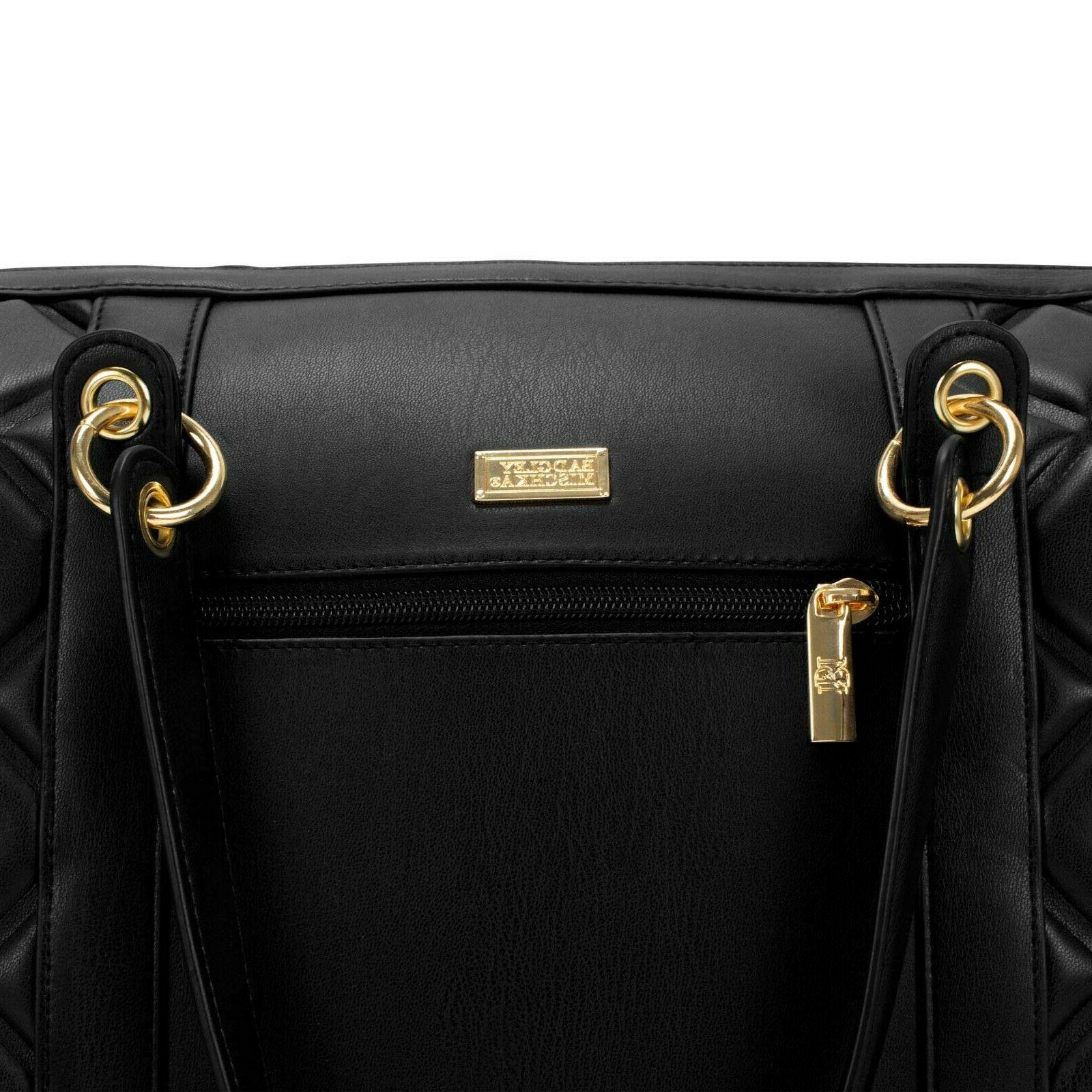 BADGLEY MISCHKA Quilted Tote Packable Travel