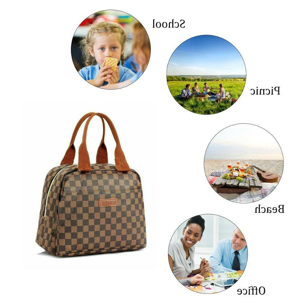 WODKEIS Insulated Lunch Bag Cooler Tote Bags For & Trival