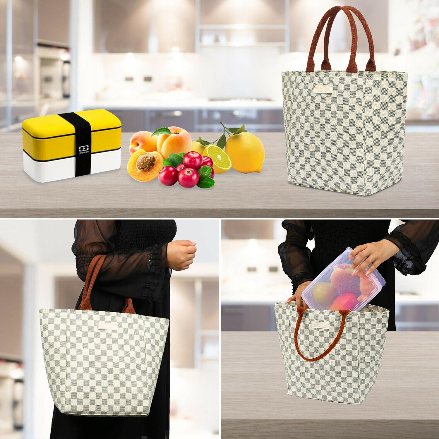 WODKEIS Lunch Bag Insulated Lunch Tote Handbag Box