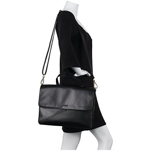 Kenneth Reaction Women's East Leather Dual Laptop Business Black