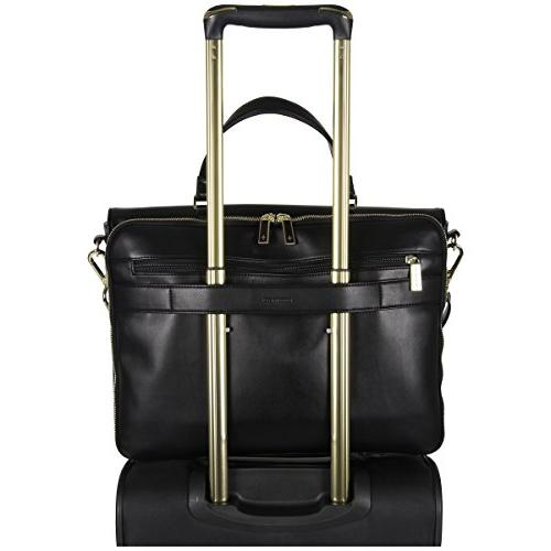 """Kenneth Cole Women's East Bay Faux Leather Dual 15"""" Laptop Tote,"""