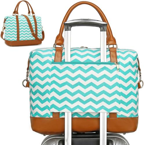 CAMTOP Women Weekender Travel Bag Overnight Carry On Tote wi