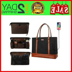 Laptop Tote Bag For Women Teacher Work Bags W Compartments F