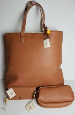 Large Brown tote bag, Glasses, Shades Case, Cosmetic Pouch s